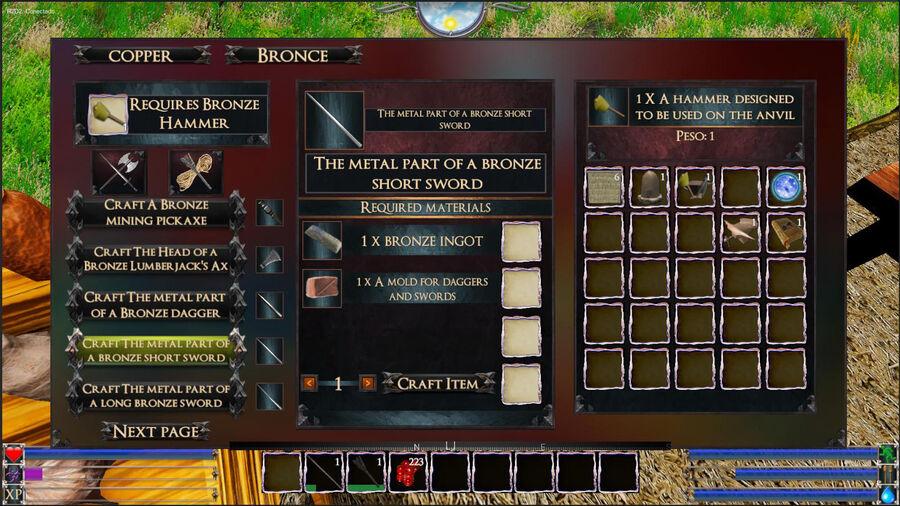 The Metal Part Of A Bronze Short Sword