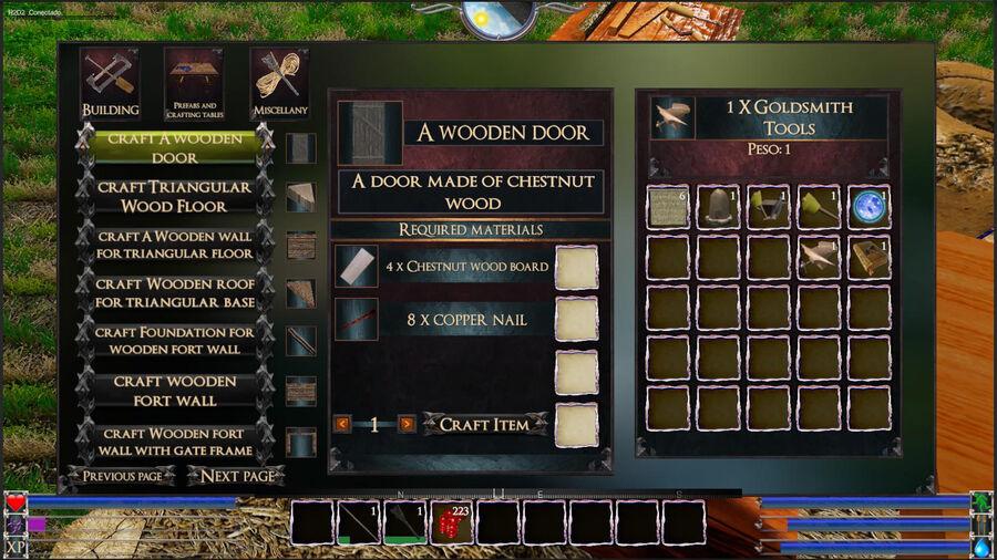 A Wooden Wooden Door