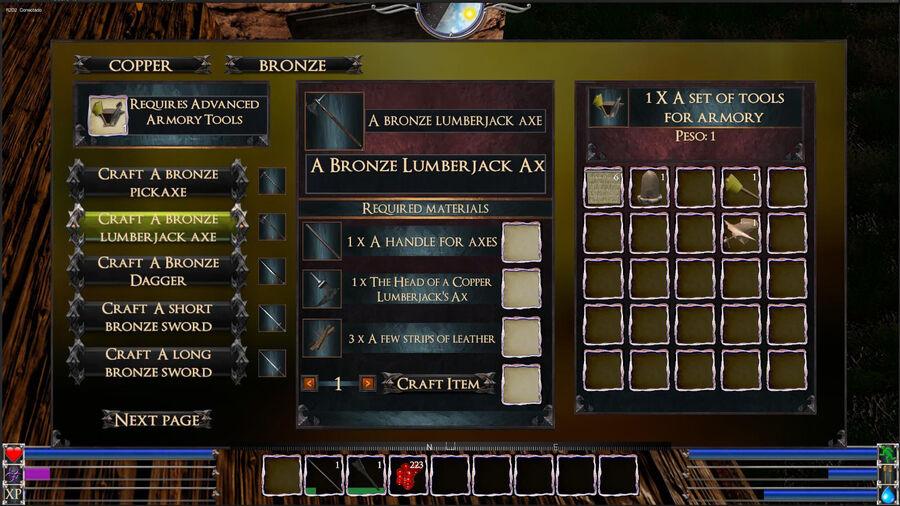 A Bronze Lumberjack Axe