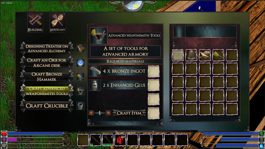 Advanced Weaponsmith Tools