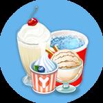 Ice Cream Yogurt and Milkshake