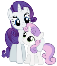 Rarity and sweetie belle being cute by stabzor-d4us3yd