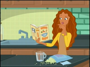 Madison looking at the cooking book