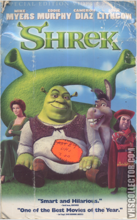Shrek 2001 DVD