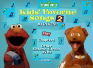 Kids Favorite Songs 2 DVD 2001 Menu Rare