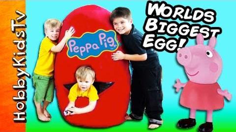 Giant PEPPA PIG Surprise Egg by HobbyKidsTV
