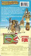 Madagascar VHS Back Cover