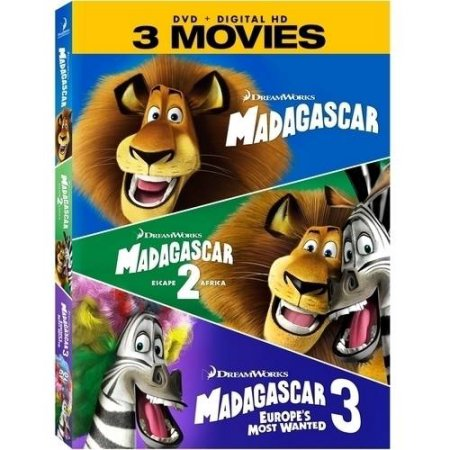 Madagascar DVD + Digital HD + 3 Movies