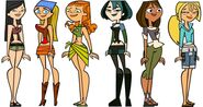Heather, Lindsay, Izzy, Gwen, Courtney, and Bridgette