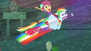 Rainbow Dash vole avec Scootaloo EG