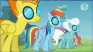 Fleetfoot , Rainbow Dash , and Spitfire S04EP10