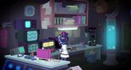 Vu intérieur du laboratoire de sci-Twilight