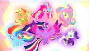 Twilight et ses amies avec le rainbow power S04E26