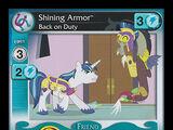 Shining Armor, Back on Duty