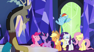 Discord watches the ponies laugh S5E22