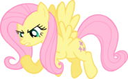 Angry Fluttershy vector for team 5 by thejourneysend-d4tfsha