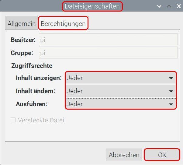 Raspbian Dateieigenschaften Berechtigungen.jpg
