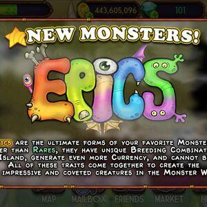 Epic Monsters My Singing Monsters Wiki Fandom