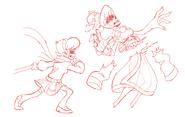 Future Vivi cutting Shiromori drawing