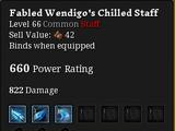 Fabled Wendigo's Chilled Staff