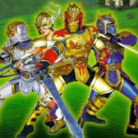 The Mystic Knights in their armor.