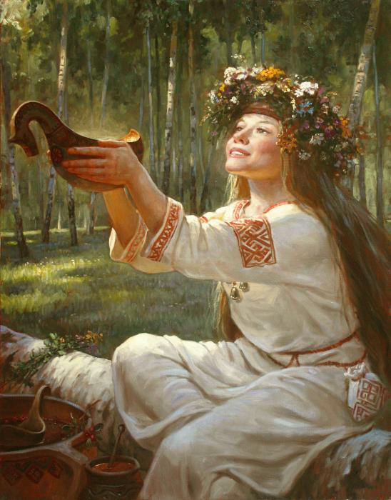 славяне девушка богов
