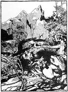 He raised his hammer with a mighty swing (1901) by Arthur Rackham