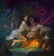 Aphrodite with Ares by hellstern