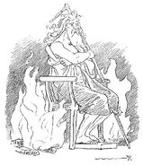 Odin as Grímnir by Frølich