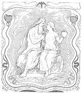 Odin and Gunnlöð by Frølich