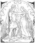 The return of Svipdagr to Menglöð by Frølich