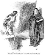 Gudrun rose and came towards Brynhild