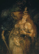 The Last Farewell of Wotan and Brunhilde
