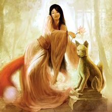 Fox spirit sunlight fantasy graceful woman-hd-wallpaper-283524.jpg