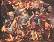Joachim Wtewael - The Battle Between the Gods and the Titans - WGA25902