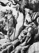 Odin-Norse-god-Mimir-Yggdrasill-world-tree