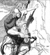 Óðinin Bores with Rati at Suttungs