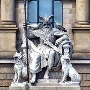 Statue of Óðinn in Hannover, Germany