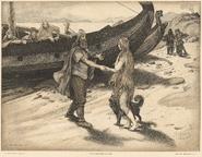 Regnar Lodbrog og Kraka - Louis Moe (17010-2) - cropped