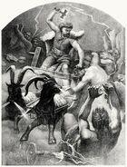 Thor, the thunder-god. From Teutonic mythology vol. 1, by Viktor Rydberg, London, 1907