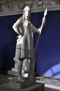 Brynhildr Sculpture in Blue Room at Ny Carlsberg Glyptoteket Museum