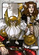 Legends iea Óðinn and Frigg