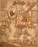 SÁM 66, 80v, Odin on Sleipnir