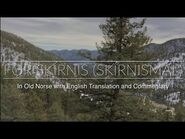Fǫr Skírnis-Skírnismál in Old Norse and English