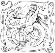 Thor and Jörmungandr by Frølich