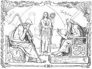 Odin and Vafþrúðnir by Frølich