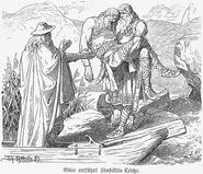 Odin entführt Sinfjötlis Leiche (1883) by Johannes Gehrts