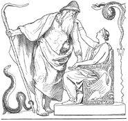 Odin and Frigg from Vafþrúðnismál by Lorenz Frølich