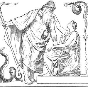 Odin and Frigg from Vafþrúðnismál by Lorenz Frølich.jpg