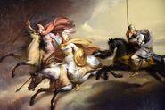 Detail. Valkyries Riding into Battle, by Johan Gustaf Sandberg. Nationalmusuem, Stockholm, Sweden